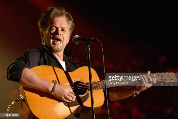 Songwriters Hall of Fame Inductee John Mellencamp performs onstage during the Songwriters Hall of Fame 49th Annual Induction and Awards Dinner at New...
