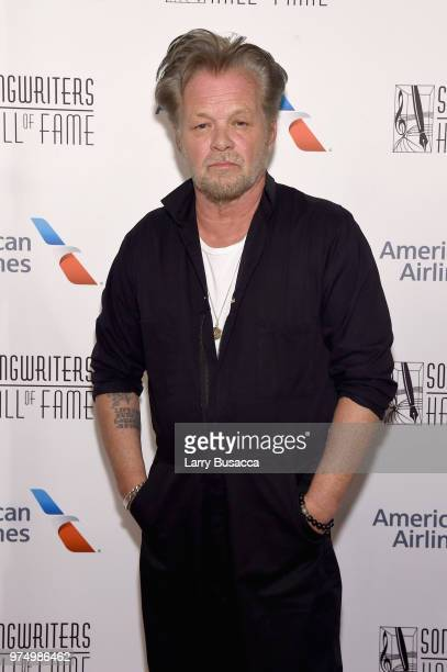 Songwriters Hall of Fame Inductee John Mellencamp poses backstage during the Songwriters Hall of Fame 49th Annual Induction and Awards Dinner at New...