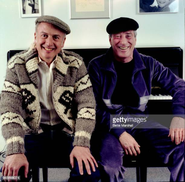 Songwriters Jerry Leiber and Mike Stoller are photographed in 1990s in New York City