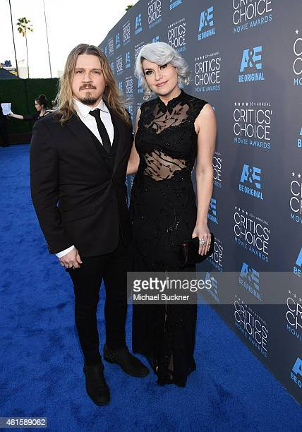 Songwriters Joshua Bartholomew and Lisa Harriton attend the 20th annual Critics' Choice Movie Awards at the Hollywood Palladium on January 15 2015 in...
