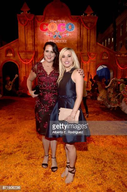 Songwriters Kate Anderson and Elyssa Samsel of Olaf's Frozen Adventure at the US Premiere of DisneyPixar's Coco at the El Capitan Theatre on November...