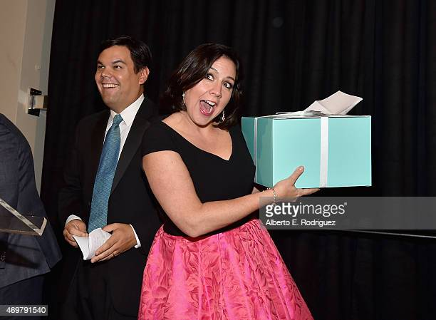 Songwriters Kristen AndersonLopez and Robert Lopez attend The Los Angeles Children's Chorus' Annual Gala Bel Canto honoring Ed Nowak and Frozen...