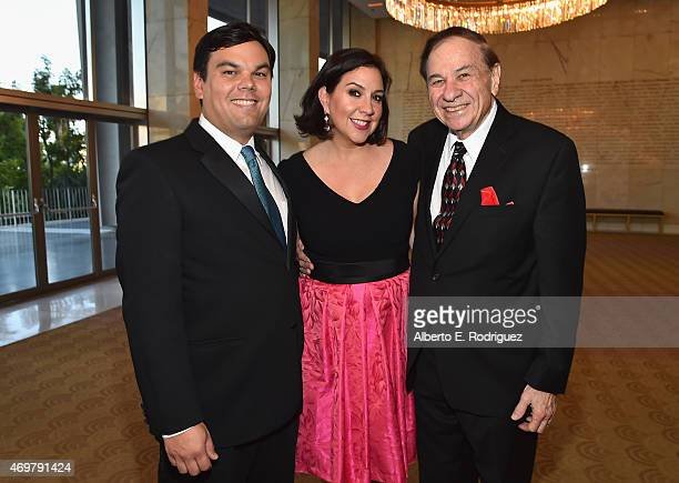 Songwriters Kristen AndersonLopez Robert Lopez and Composer Richard Sherman attend The Los Angeles Children's Chorus' Annual Gala Bel Canto honoring...