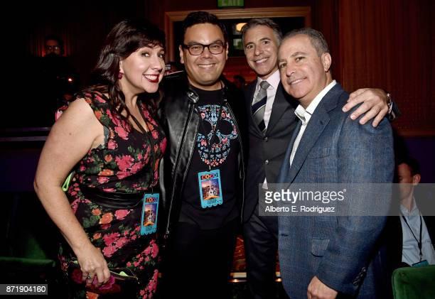 Songwriters Kristen AndersonLopez Robert Lopez President Marketing The Walt Disney Studios Ricky Strauss and Walt Disney Studios President Alan...