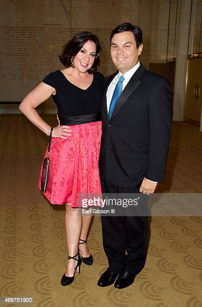 Songwriters Kristen Lopez and Robert Lopez attend the Los Angeles Children's Chorus Annual Gala Bel Canto Honoring their song Frozen at Dorothy...