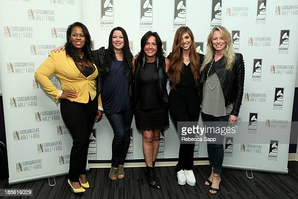 Songwriters Makeba Riddick Lauren Christy Claudia Brant Christina Perri and Deana Carter at the Songwriters Hall Of Fame Legends In The Round at The...