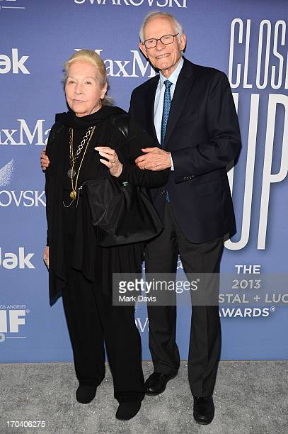 Songwriters Marilyn Bergman and Alan Bergman attend Women In Film's 2013 Crystal Lucy Awards at The Beverly Hilton Hotel on June 12 2013 in Beverly...