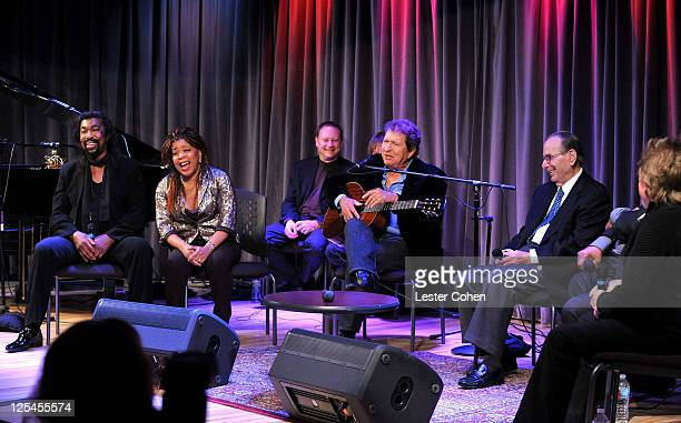 Songwriters Nickolas Ashford, Valerie Simpson, Mac Davis, Songwriters Hall of Fame Chairman/CEO Hal David, Lamont Dozier and Paul Williams speak...