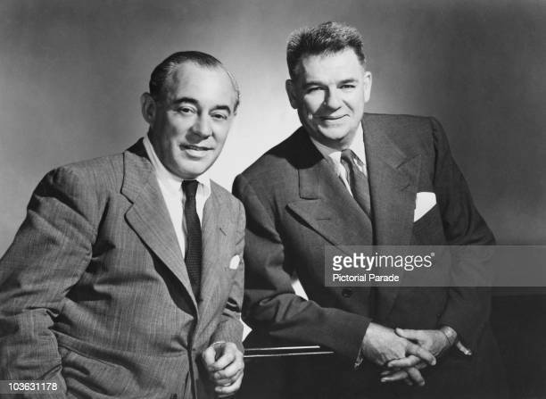 Songwriters Richard Rodgers and Oscar Hammerstein II circa 1950 Rodgers and Hammerstein composed music for films and television