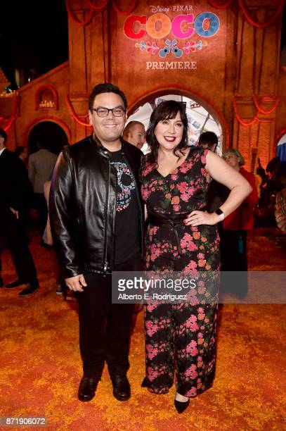 Songwriters Robert Lopez and Kristen AndersonLopez at the US Premiere of DisneyPixar's 'Coco' at the El Capitan Theatre on November 8 in Hollywood...