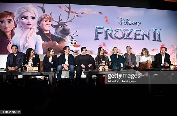 Songwriters Robert Lopez Kristen AndersonLopez actors Evan Rachel Wood Jonathan Groff Josh Gad Idina Menzel Kristen Bell Director Chris Buck...