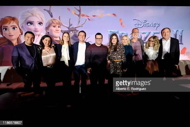 Songwriters Robert Lopez, Kristen Anderson-Lopez, actors Evan Rachel Wood, Jonathan Groff, Josh Gad, Idina Menzel, Kristen Bell, Director Chris Buck,...