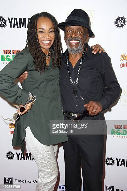 Songwriters Siedah Garrett and Leon Ware attend a celebration of Black Music Month sponsored by Kashif & Friends at Sam Ash Music Store on June 18,...