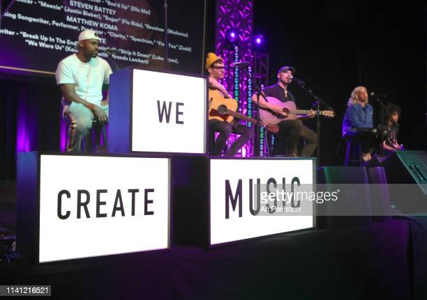 Songwriters Steven Battey Matthew Koma Jon Nite and Joelle James perform onstage during the 14th ANNUAL WRITERS JAM at The 2019 ASCAP I Create Music...