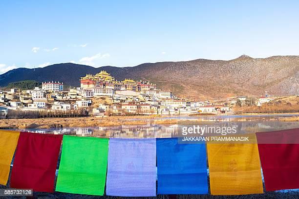 songzanlin monastery - songzanlin monastery stockfoto's en -beelden