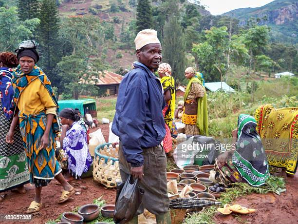 soni village market - arusha national park stock photos and pictures