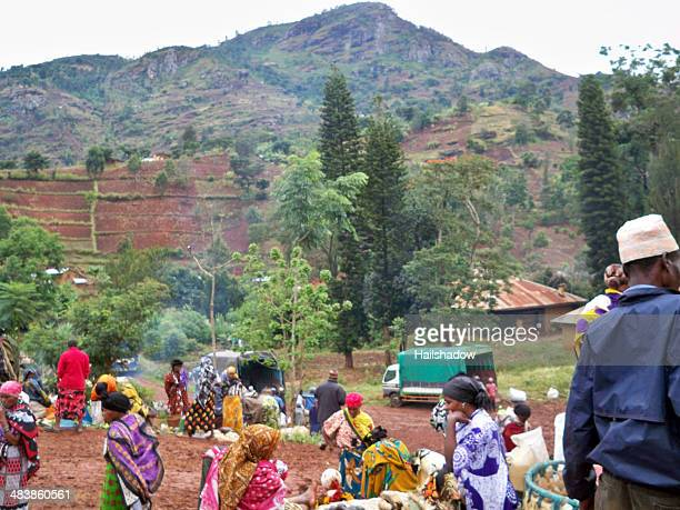 soni village market, tanzania - arusha national park stock photos and pictures