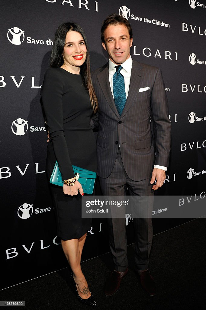 Sonia Amoruso and Alessandro Del Piero attends BVLGARI and Save The Children STOP. THINK. GIVE. Pre-Oscar Event at Spago on February 17, 2015 in Beverly Hills, California.