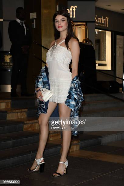 Sonia Ben Ammar arrives at the Vanity Fair diner 2018 during the 71st annual Cannes Film Festival at on May 9 2018 in Cannes France