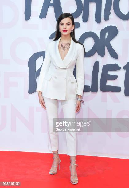 Sonia Ben Ammar attends Fashion For Relief Cannes 2018 during the 71st annual Cannes Film Festival at Aeroport Cannes Mandelieu on May 13 2018 in...