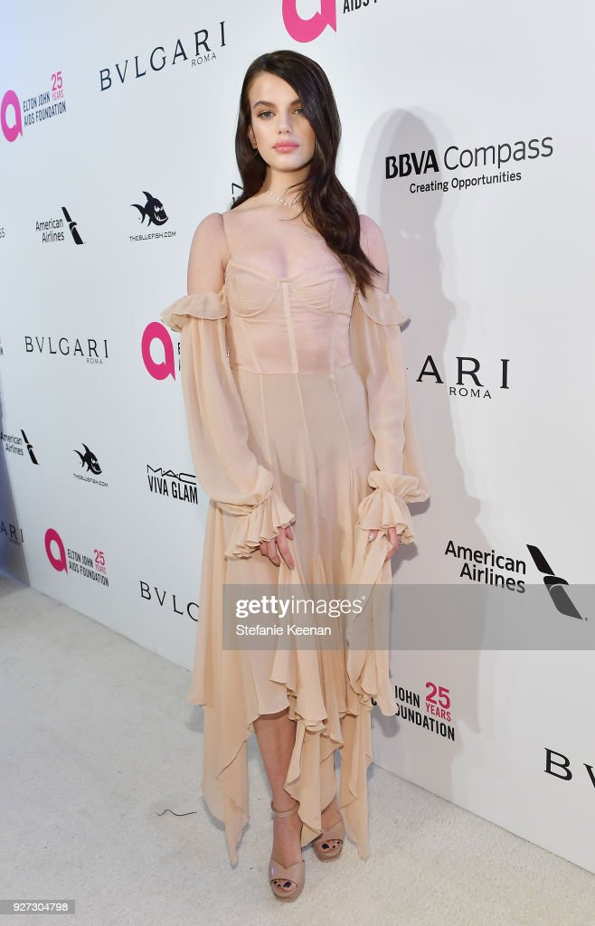 26th Annual Elton John AIDS Foundation Academy Awards Viewing Party sponsored by Bulgari, celebrating EJAF and the 90th Academy Awards - Red Carpet : News Photo