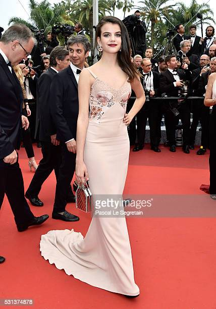 Sonia Ben Ammar attends The BFG premiere during the 69th annual Cannes Film Festival at the Palais des Festivals on May 14 2016 in Cannes France