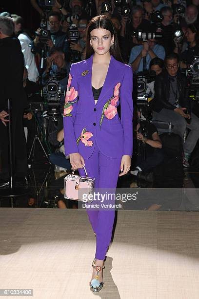 Sonia Ben Ammar attends the Dolce And Gabbana show during Milan Fashion Week Spring/Summer 2017 on September 25 2016 in Milan Italy
