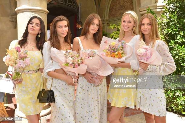 Sonia Ben Ammar Charlotte D'Alessio Kaia Gerber and Scarlett Rose Leithold join Talita von Furstenberg in celebrating her first collection for DVF at...