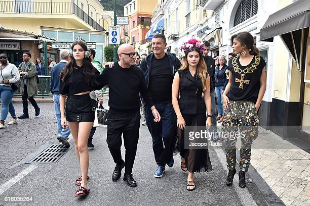 Sonia Ben Ammar Domenico Dolce Stefano Gabbana Thylane Blondeau and Zendaya are seen on the set ofthe DolceGabbana Summer 2017 #DGMillennials...