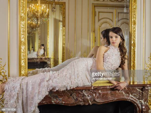 Sonia Ben Ammar is photographed for Vanity Fair Magazine on November 28 2015 at the Palais de Chaillot in Paris France PUBLISHED IMAGE