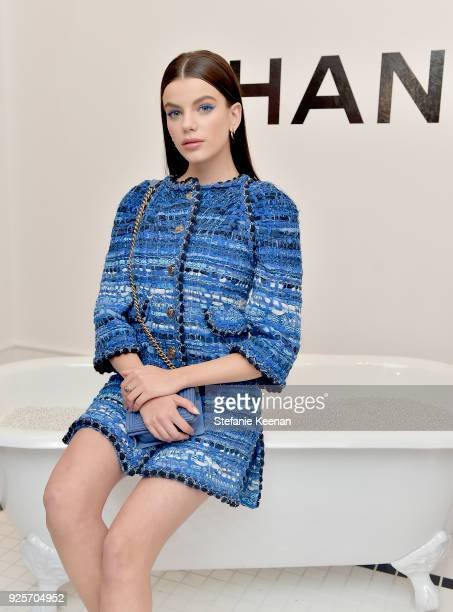 Sonia Ben Ammar wearing Chanel attends a Chanel Party to Celebrate the Chanel Beauty House and @WELOVECOCO at Chanel Beauty House on February 28 2018...