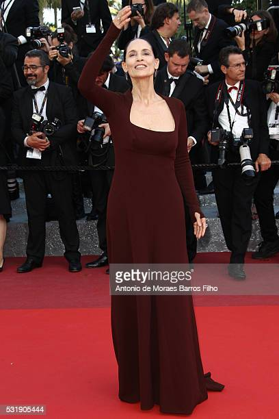 Sonia Braga attends 'Aquarius' during The 69th Annual Cannes Film Festival on May 17 2016 in Cannes