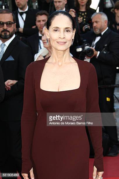 Sonia Braga attends Aquarius preier during The 69th Annual Cannes Film Festival on May 17 2016 in Cannes