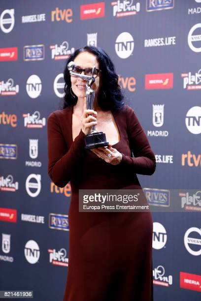 Sonia Braga is seen at Platino Awards winners press room at La Caja Magica on July 22 2017 in Madrid Spain
