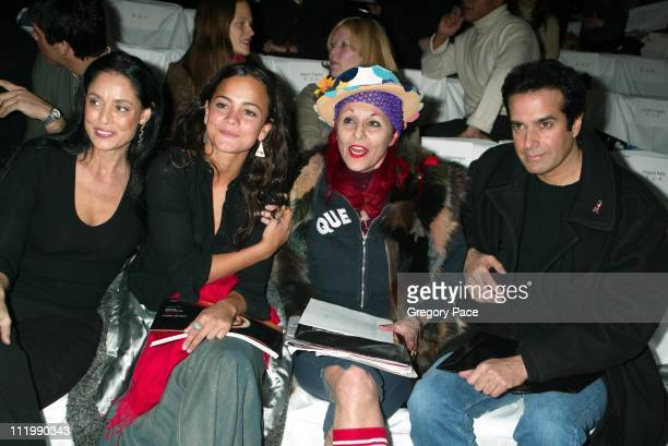Sonia Braga with her niece Alice Braga Patricia Field and David Copperfield