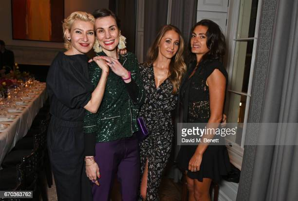 Sonia BronsteinShah Maria Kastani Andrea Rajacic and Jessica LemariePires attend a VIP dinner celebrating the private view of The Maddox Gallery's...