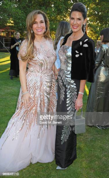 Sonia Falcone and Christina Estrada attend the Argento Ball for the Elton John AIDS Foundation in association with BVLGARI Bob and Tamar Manoukian on...