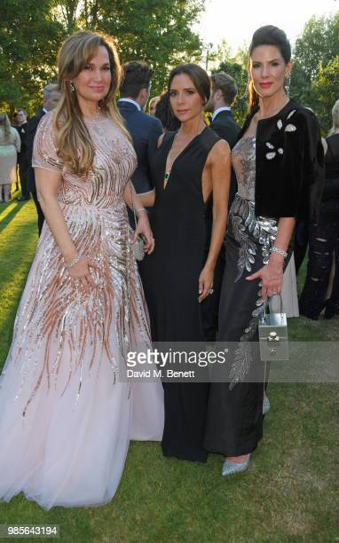 Sonia Falcone Victoria Beckham and Christina Estrada attend the Argento Ball for the Elton John AIDS Foundation in association with BVLGARI Bob and...