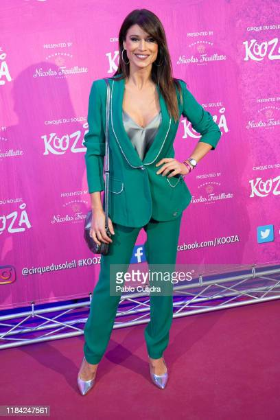 Sonia Ferrer attends the Cirque Du Soleil 'Kooza' premiere on October 29 2019 in Madrid Spain