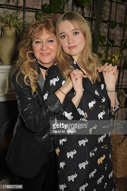 Sonia Friedman and Aimee Lou Wood attend the press night after party for Uncle Vanya at Sophie's on January 23 2020 in London England
