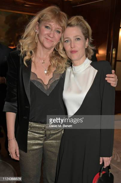 Sonia Friedman and Gillian Anderson attend the press night after party for 'All About Eve' at The Waldorf Hilton on February 12 2019 in London England