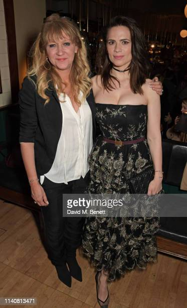Sonia Friedman and Hayley Atwell attend the press night after party for Rosmersholm at Browns on May 2 2019 in London England