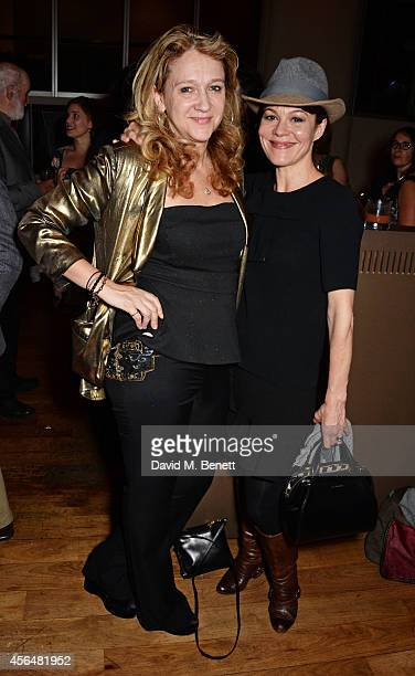 Sonia Friedman and Helen McCrory attends an after party following the press night performance of Electra playing at The Old Vic at Skylon Grill on...