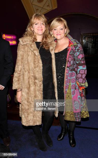 Sonia Friedman and Maria Friedman attend a press screening of Merrily We Roll Along at Cineworld Haymarket on October 21 2013 in London England