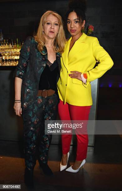 Sonia Friedman and Pearl Mackie attend the press night after party for 'The Birthday Party' at Mint Leaf on January 18 2018 in London England