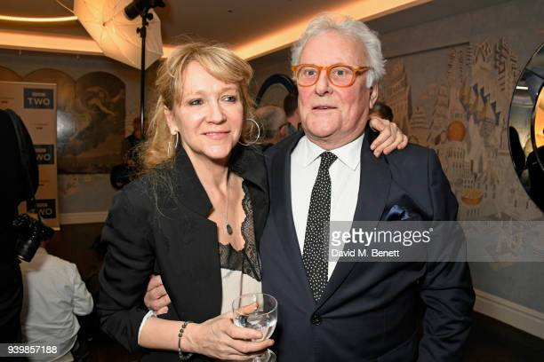 """Sonia Friedman and Sir Richard Eyre attend a special screening of new BBC Two drama """"King Lear"""" at The Soho Hotel on March 28, 2018 in London,..."""