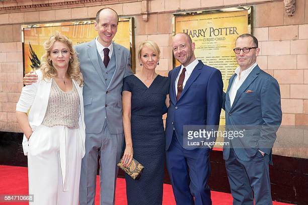 Sonia Friedman Jack Thorne J K Rowling John Tiffany and Colin Callender attends the press preview of 'Harry Potter The Cursed Child' at Palace...