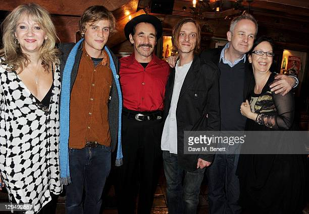 Sonia Friedman Johnny Flynn Mark Rylance Mackenzie Crook and artistic director of the Royal Court Theatre Dominic Cooke attend an after party...