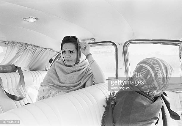 Sonia Gandhi Italianborn wife of Rajiv Gandhi campaigns in the city of Amethi