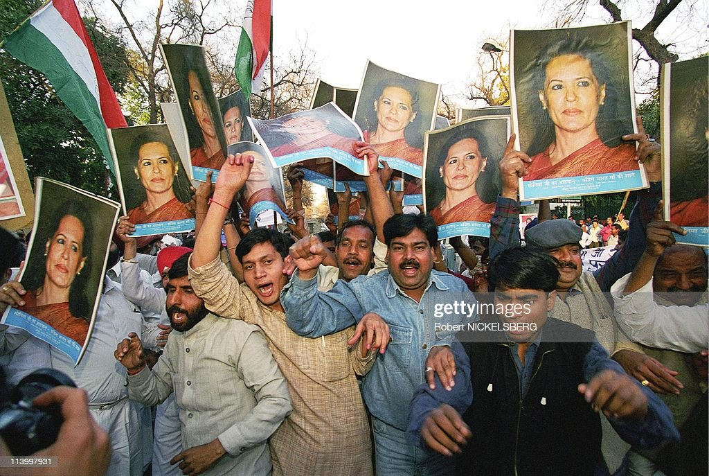 Sonia Gandhi takes the control of congress In India On March 16, 1998- : News Photo